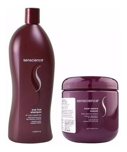 Kit Senscience True Hue Shampoo1 Litro + Mascara Inner Resto