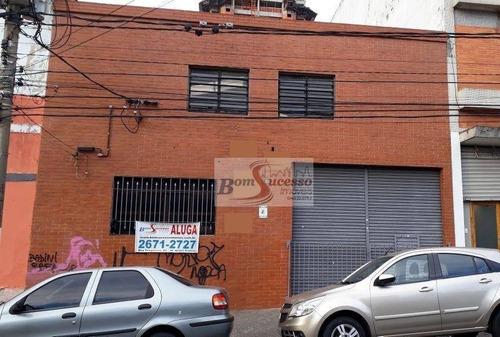 Imagem 1 de 1 de Galpão Para Alugar, 500 M² Por R$ 12.500,00/mês - Mooca - São Paulo/sp - Ga0164