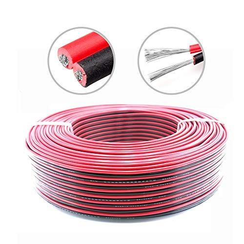 Hgmart Calibre 18 Awg Cable Eléctrico Alargador Rojo Negro