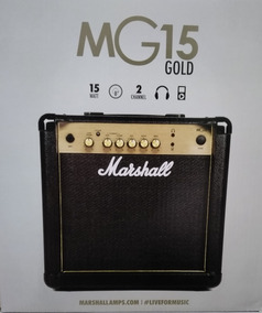 Amplificador Caixa De Guitarra Marshall Mg 15 Cf Gold