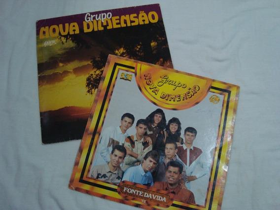 Lps; Grupo Nova Dimensão-lote C/02 Discos-som E Louvores