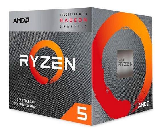 Processador Gamer Amd Ryzen 5 3400g Yd3400c5fhbox De 4 Núcle
