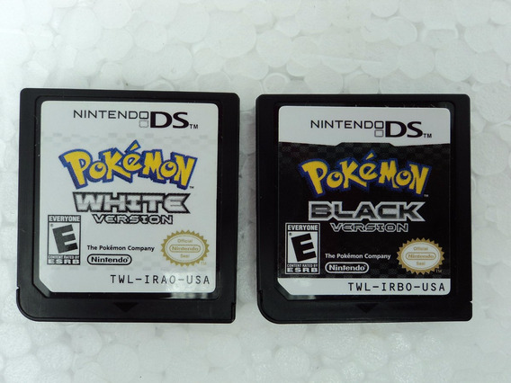 Pokemon Black1 + White1 - Nintendo Ds- Super Combo Duas Fita