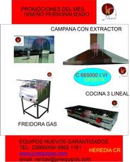 Cocinas, Extractores, Equipo Soda