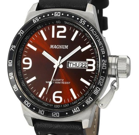 Relógio Magnum Masculino Military Ma31542z Prateado + Nota