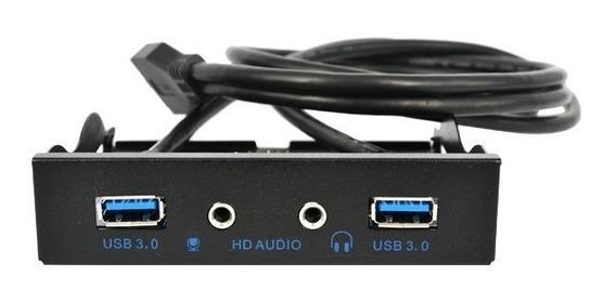 Painel Frontal 2 Portas Usb 3.0 + Hd Audio Pronta Entrega