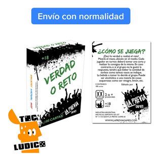 Juego Verdad O Reto - La Previa Games - Toc Lúdico