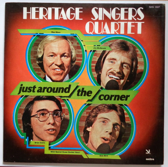 Heritage Singers Quartet Lp Nac Usado Just Around The Corner