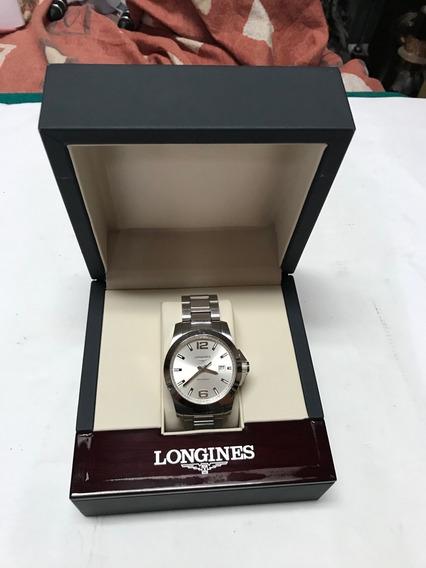 Reloj Longines Conquest Cuarzo Mod Moderno Estuche Original Caballero