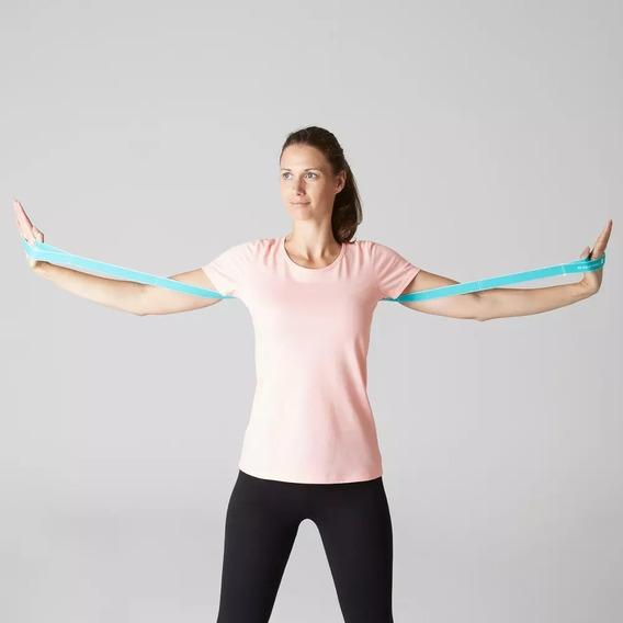 Remera Deportiva Domyos Decathlon Xs Rosa Yoga Pilates