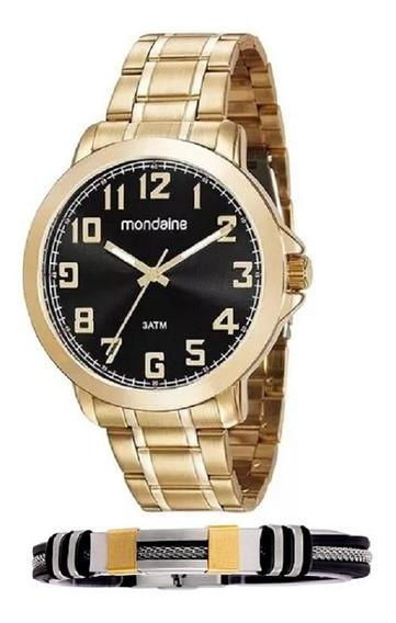 Relógio Mondaine Dourado 99268gpmvde1k1 Com Nota Fiscal