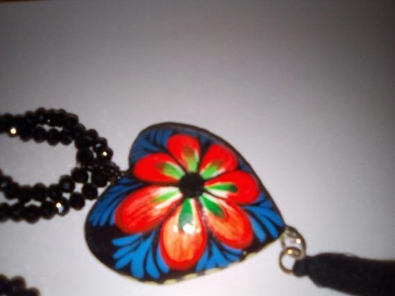 Collar Artesanal Corazón De Alebrije