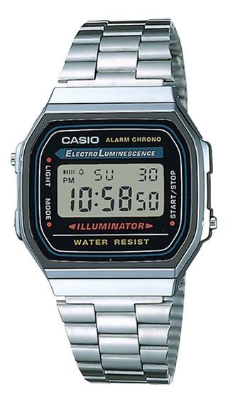 Relógio Casio A168wa-1wdf Padrão Masc Prata - Refinado