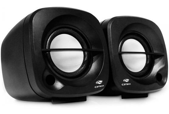 Caixa De Som Speaker 2.0 Sp-303bk C3tech 3w Rms P/ Pc E Note