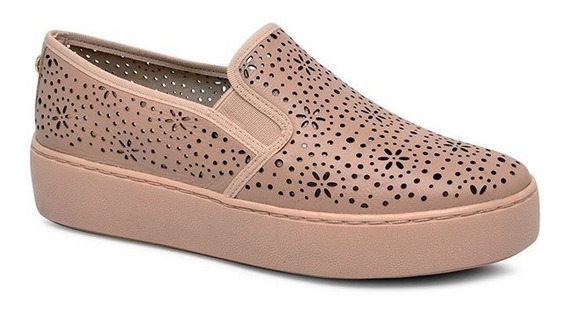 Tênis Bottero Flatform Slip On 292802-5 Rosa