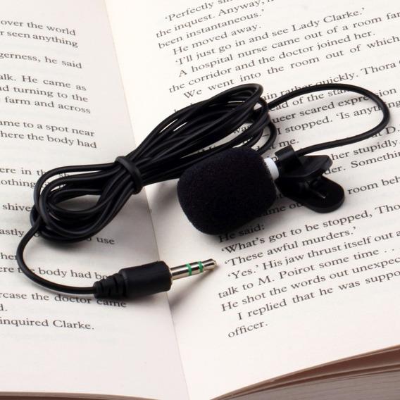 Microfone De Lapela Plug P2 Stério Varias Finalidades