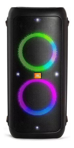 Jbl Party Box 200 Caixa De Som Portátil Bt Led 120 Wrms