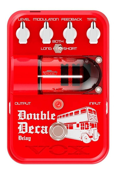 Pedal Vox Tonegarage Double Deca Delay Tg2 Dddl Red Garantia