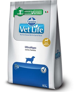 Ração Vet Life Natural Ultrahypo Cães Mini 10kg Pett
