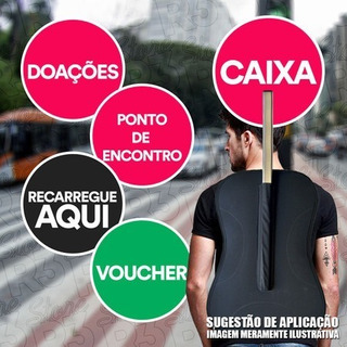 Mochilas Pirulito Sem Personalizar Duas Placas