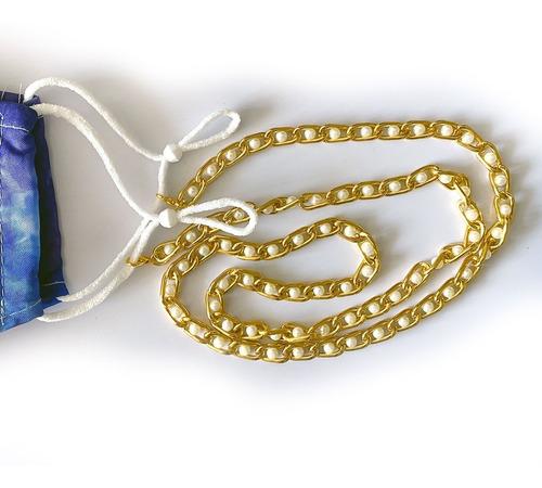 Correa Sujetadora Para Cubrebocas De Cadena Con  Perlas