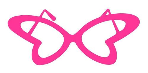 Óculos Borboleta Colorido - Kit 10 Unidades