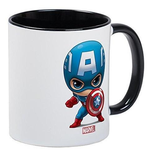 Imagen 1 de 2 de Cafepress Taza De Capitán América Taza De Café De 11 Oz - Ap