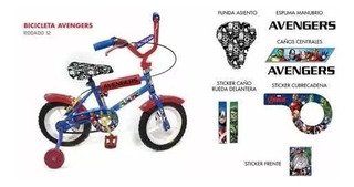 Bicicleta Rod 12 Avengers Hulk Magic Makers