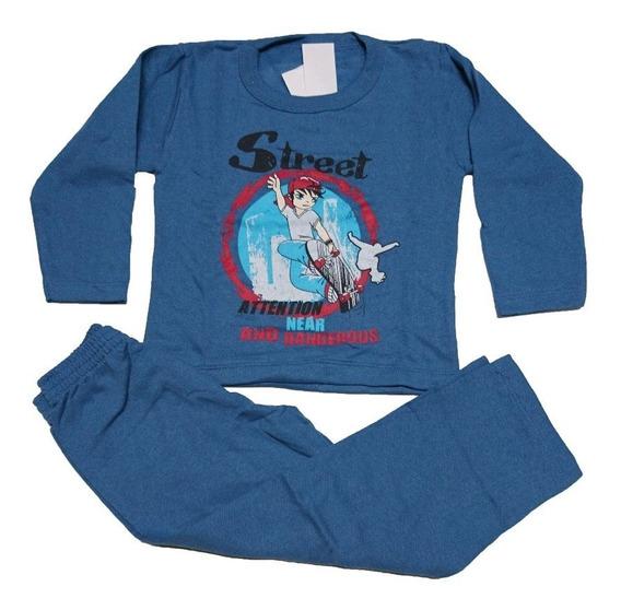 02 Pijama Conjunto Moletom Infantil Flanelado Calça 1 Ao 8