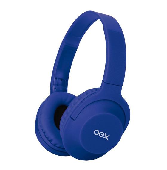 Fone De Ouvido Preto Dobrável Oex Com Microfone Roxo Hs207