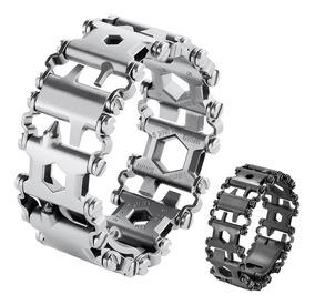 Pulseira Multifuncional Bracelete Tread Aço Multiferramentas