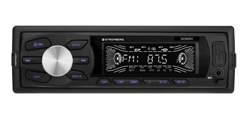 Autoestéreo Stromberg Sc-6003 Bluetooth Usb Aux Desmontable