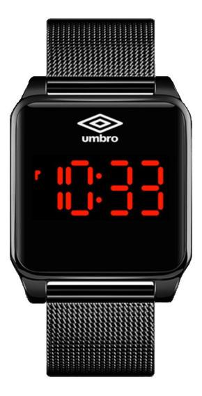 Relógio Umbro Digital Preto Quadrado Touch Umb-51-b