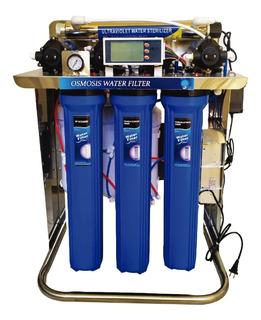 Osmosis Hiflux 2400gpd Uv Filtro Agua Potable Consumo Humano