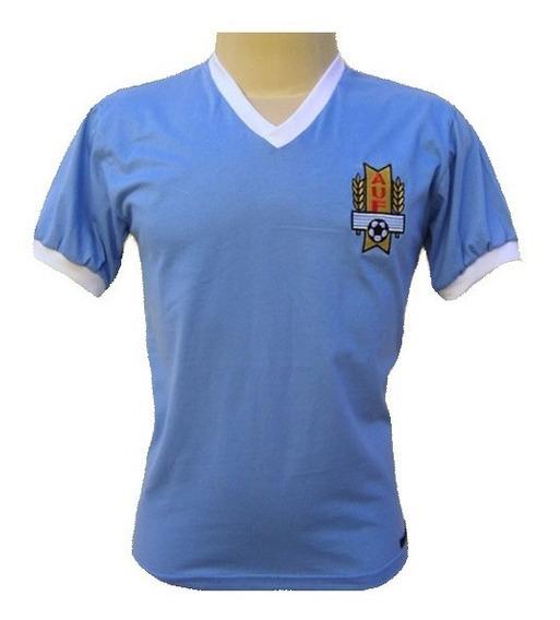 Camisa Retro Uruguai 1950 Maracanazo Copa Escudo Bordado