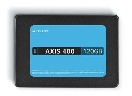 Ssd Multilaser 2,5 Pol. 120gb Axis 400 - Gravacao 400 Mb/s -