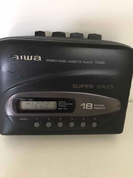 Stereo/radio/cassete/player Tx320/aiwa- Super Bass- Func