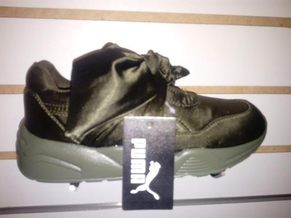 Zapato Deportivo Para Niñas Modelo Rihana Pum Verde Talla 36