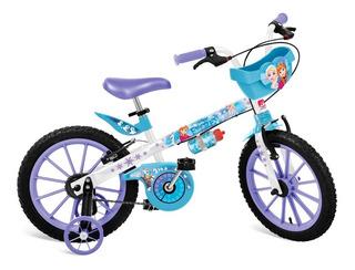 Bicicleta Disney Frozen Com Cesta - Aro 16 - Bandeirante
