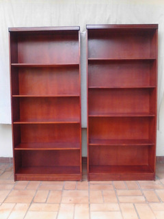 Biblioteca En Madera 5 Niveles