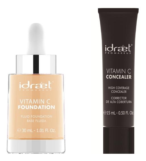 Makeup Vitamin C Maquillaje Hd Alta Cobertura Larga Duracion