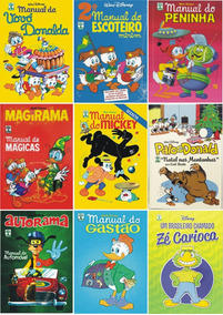 Kit 9 Livros Coleção Hq Manual Disney Raro Lacrado + Brinde