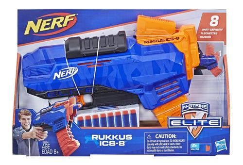 Lanzador Pistola Juguete Nerf N-strike Elite Rukkus 8 Dardos