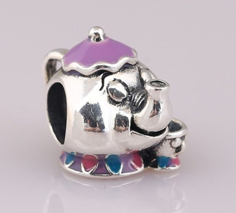 Charms Dije Compatible Pandora Tetera Mrs Potts 925 + Envío