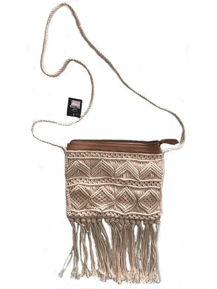 Bolsa Feminia Hollister - Tiracolor Macrame Crochet