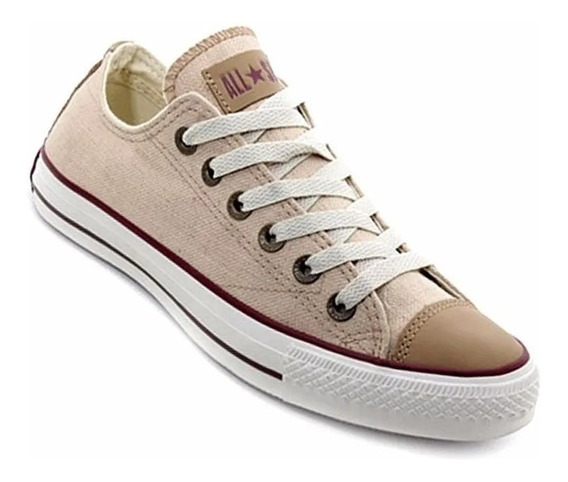 Converse All Star Lino Ox Natural 157077c/ Negra 157076c