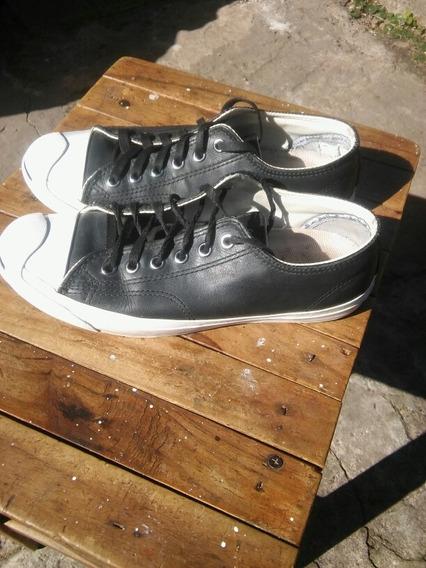 Zapatillas All Star Converse Jack Purcell Cuero Negras
