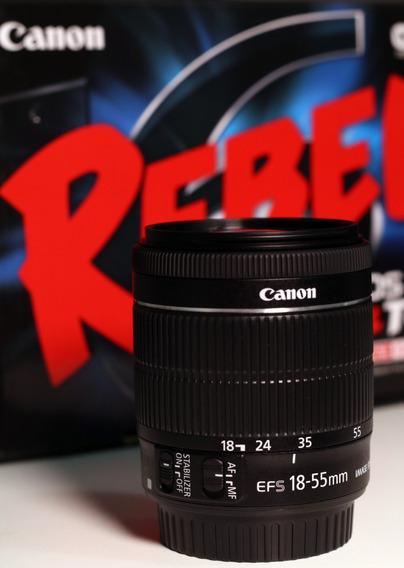 Lente Canon Ef-s 18-55mm F/4-5.6 Is Stm Kit Pronta Entrega