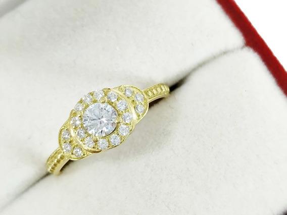Anillo Swarovski Oro 18k Compromiso Cintillo Mujer Casamient