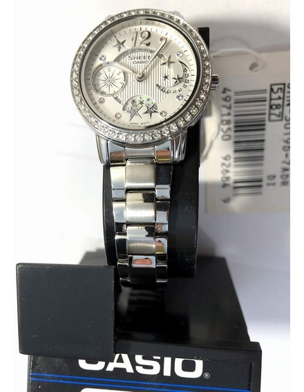 Relogio Casio Shn 3019d-7 Strass Color Feminino Delicado